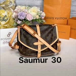 ✅Authentic ✅LOUIS VUITTON Saumur 30 Shoulder/